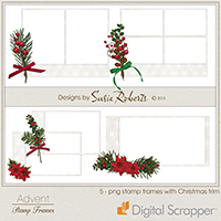 Advent Stamp Frames