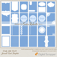 Daily Life 12 x 12 Journal Card Template