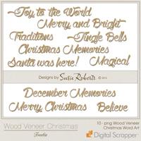 Wood Veneer Christmas Freebie