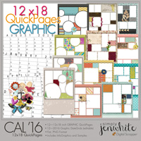 12x18 Calendar QuickPages | Graphic 2016