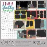 11x8.5 Calendar Templates | Shabby 2016