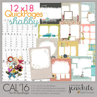 12x18 Calendar QuickPages | Shabby 2016