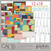 12x18 Calendar Templates | Graphic 2016