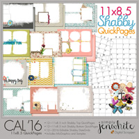11x8.5 Calendar QuickPages | Shabby 2016