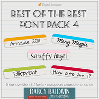 Best of the Best Font Pack 4