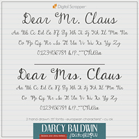 Dear Mr and Mrs Claus font pack