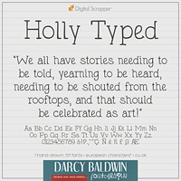 Holly Typed Font (Euro)