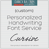 Custom Cursive Handwriting Font Service