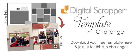 Digital Scrapper Template Challenge