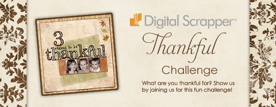 Digital Scrapper Thankful Challenge