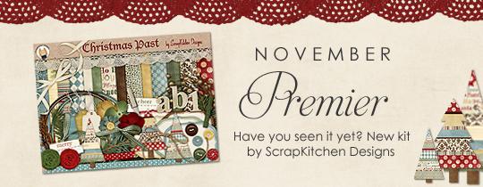 November Digital Scrapper Premier