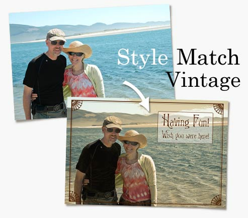 Two photos showing the new Style Match feature in Photoshop Elements 9