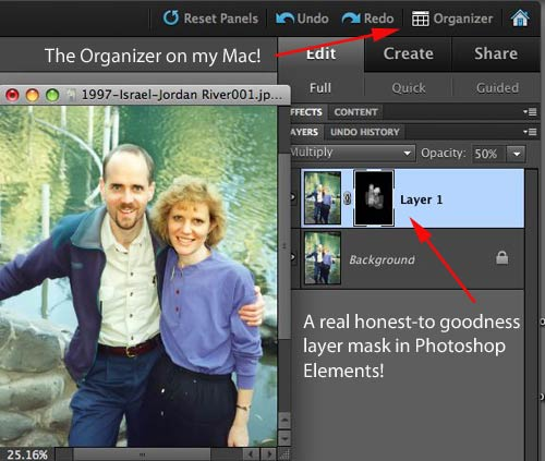 New features: Layer mask and Organizer for the Mac