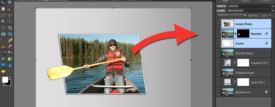 Photoshop Elements 9–Working With Out Of Bounds Layers