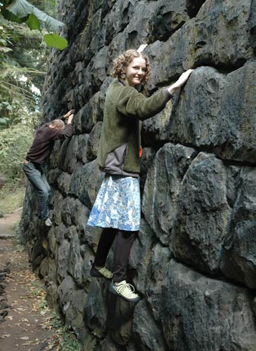 Allison Climbing in a Skirt
