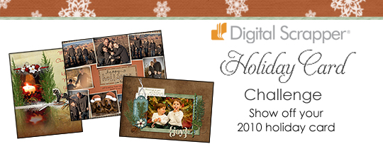 Digital Scrapper Holiday Card Challenge