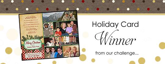 Holiday Card Challenge Winner