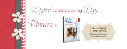 Digital Scrapbooking Day WINNERS Announcement