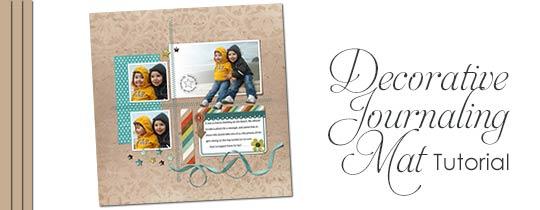 Decorative Journaling Mat Tutorial