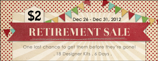 2012 Year End Kit Retirement Sale