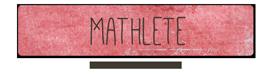 Free Font - Mathlete