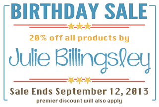 Our September Featured Designer, Julie Billingsley!  @ www.digitalscrapper.com