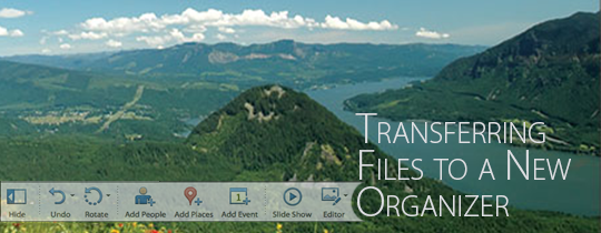 Transferring Files to a New Organizer