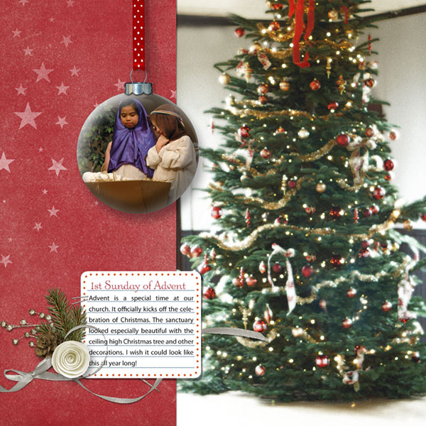 Christmas ornament page