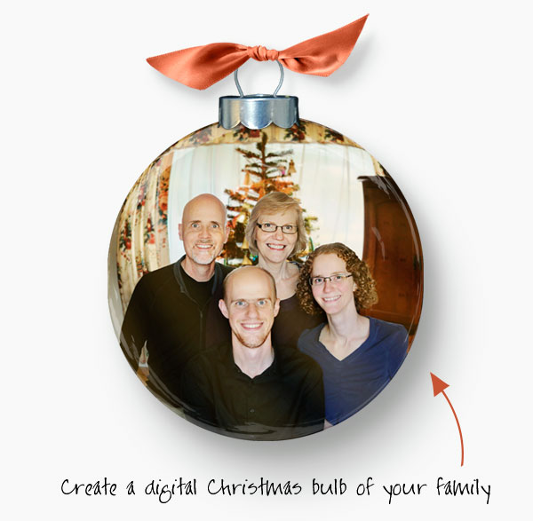 Ornament with family photo