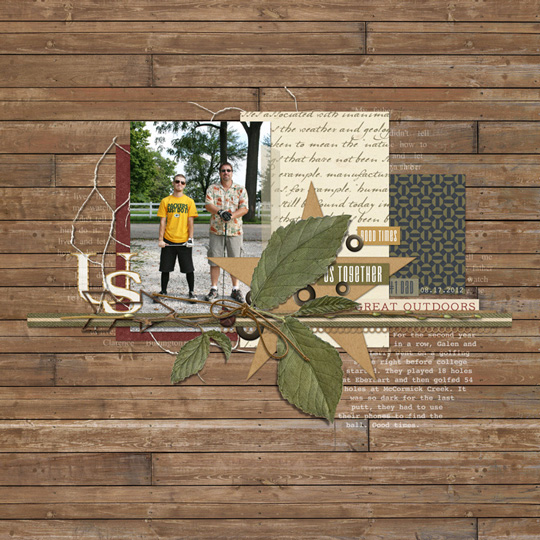 Photo & Layout: Jen White, Paper & Embellishments: Outdoor Dad by Brandy Murry, Font: Courier Bold