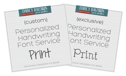 Font creation services by Darcy Baldwin