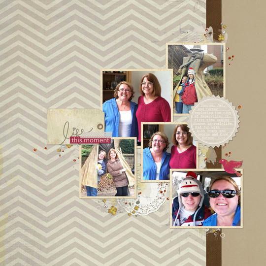 Page: Jen White | Template: 1502-tem-2 by Jen White | Kit: Live, Love by Kitty Designs | Font: Courier Regular