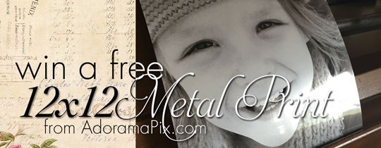 Win a FREE 12×12 Metallic Print