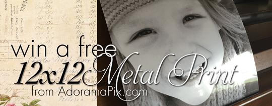 Win a FREE 12×12 Metallic Print