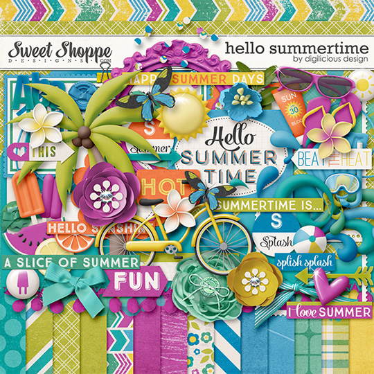 Hello Summertime by Digilicious Design