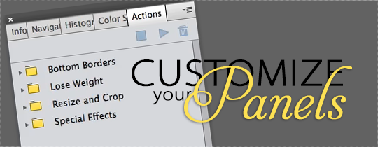Customize Your Panels Video Tutorial