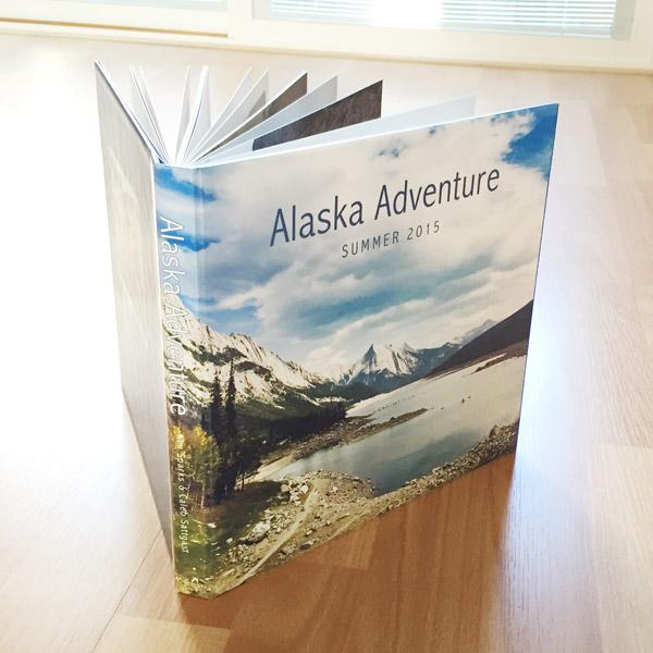 Alaska Adventure book standing up