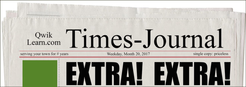 Extra! Extra! Read All About It!
