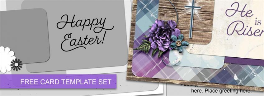 FREE Card Templates with Easter Greetings