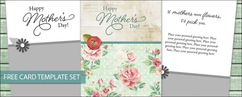 FREE Card Templates with Mother's Day Greetings
