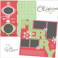 FREE Layered Christmas Pages