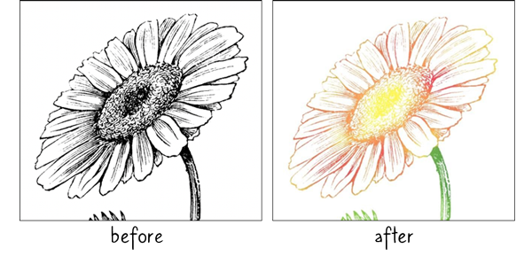 Coloring Digital Stamps by Karen Schulz