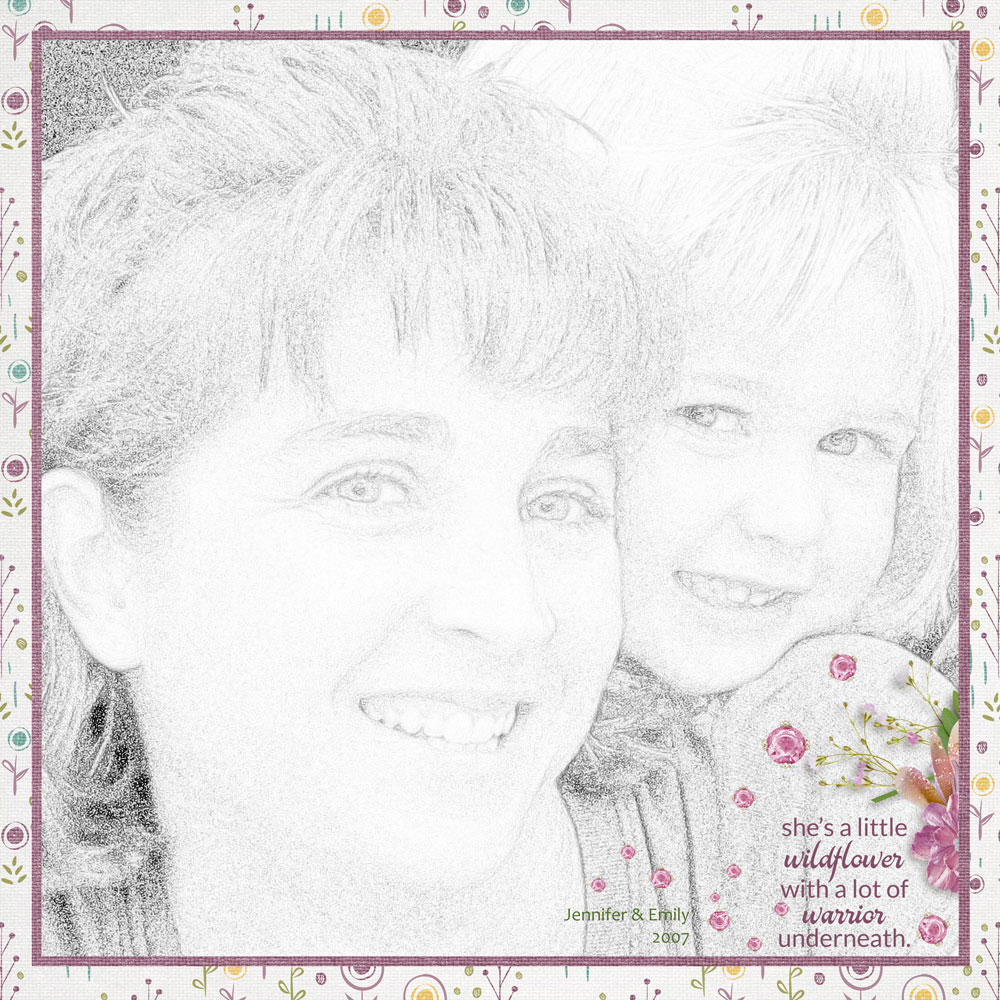 Page & Photo: Karen Schulz Kit: Mothers and Daughters by Karen Schulz Font: Candera Regular