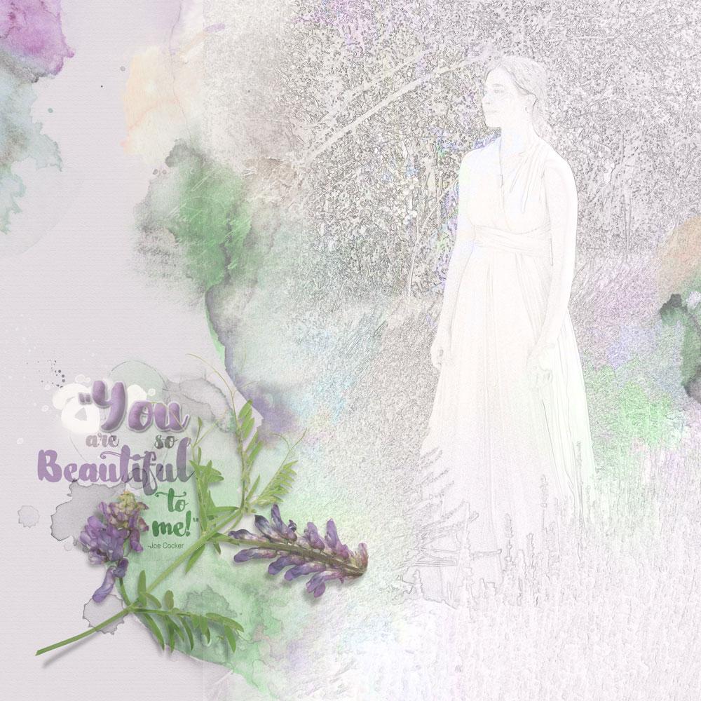 Image & Page: Terri Fullerton Kit: Anna Aspnes ArtPlayPaletteVeranda, ArtsyPaper2, Transfer 1, Purple Flower Font: NightamoreBrush, Arial Narrow