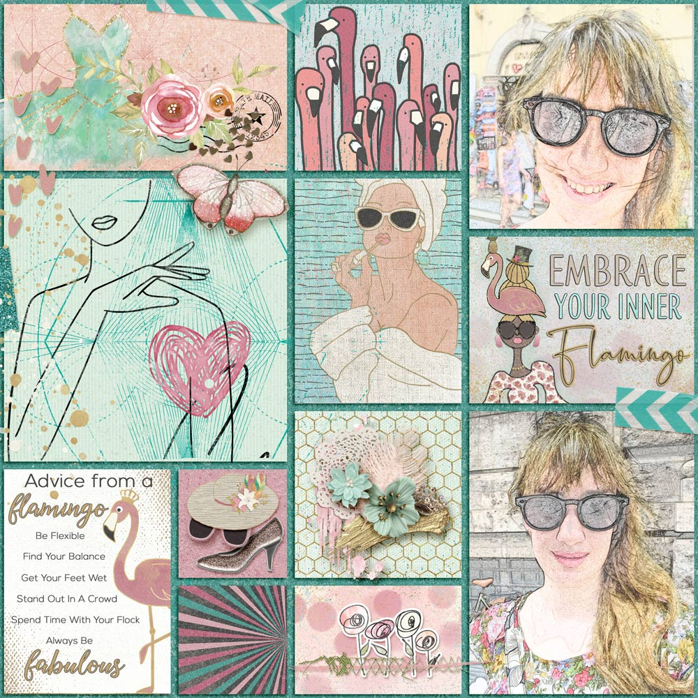 Photos - J Glessal Layout - Felicity Farnsworth Tutorials - Sketch Effect 1 and Sketch Effect 2 by Karen Schulz Template - Simply Pockets by Dagilicious Collection - Flamazing by The Cherry On Top and Art and Life Scraps