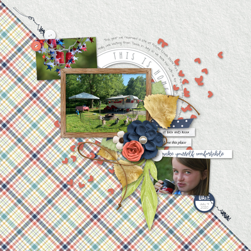 Scrapbook page using leaf