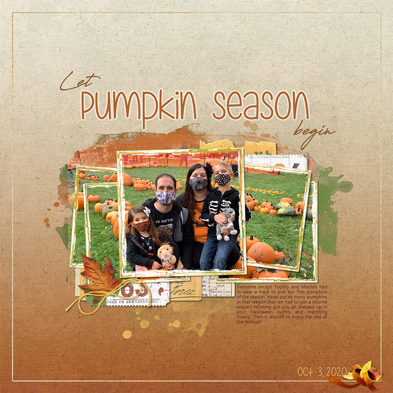 Page: Let Pumpkin Season Begin by Nanci Radford Tutorial: Color Gradient by Julie Singco Kits/Supplies: Season's Change by Rachel Dickson, Autumn Days by Kristin Cronin-Barrow, Stamped and Framed Template and Collageable Pieces by Katie Pertiet, Thankful by Karla Dudley, Sproingy by Kim Jensen Fonts: Are You Freakin Serious, Antro Vectra and Ebrima