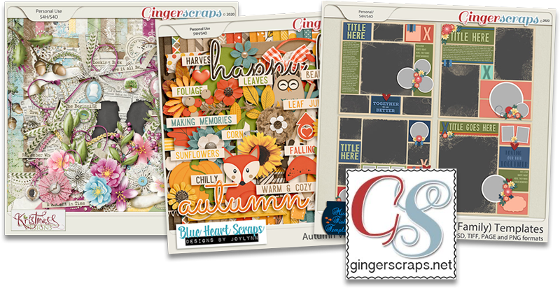 Day 2: Wednesday, November 25, 2020 Enter to win $25 credit on account at GingerScraps