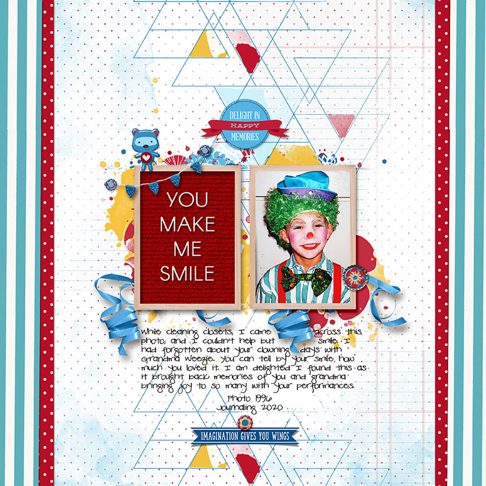 Page: Deborah Wagner, Photo: Louise Wagner Tutorial: Letterboard with the Line Tool by Jenifer Juris Kits: Chasing Rainbows Collection, Curated Team Mix No.8; Font: Pea Channa