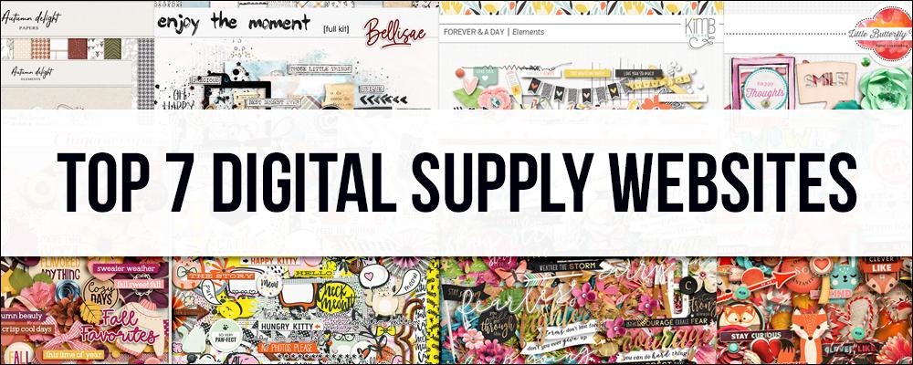 Top 7 Digital Scrapbooking Supply Websites